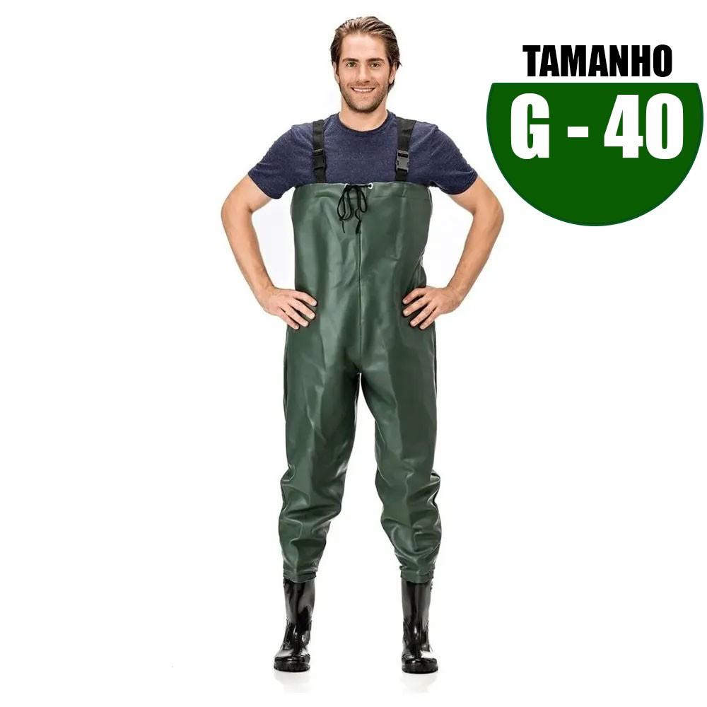MACACAO BOTA LONGA PVC N 40 TAM G