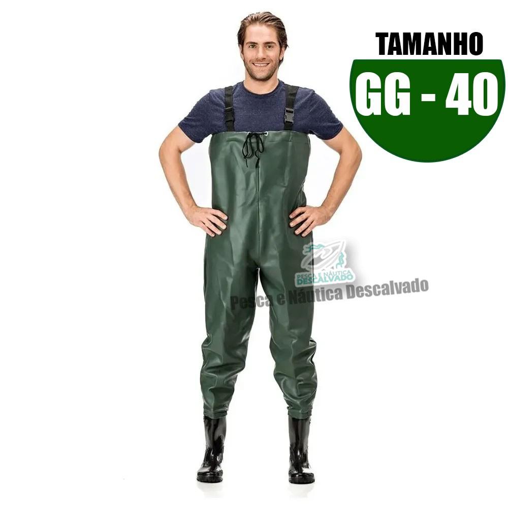 MACACAO BOTA LONGA PVC N 40 TAM GG