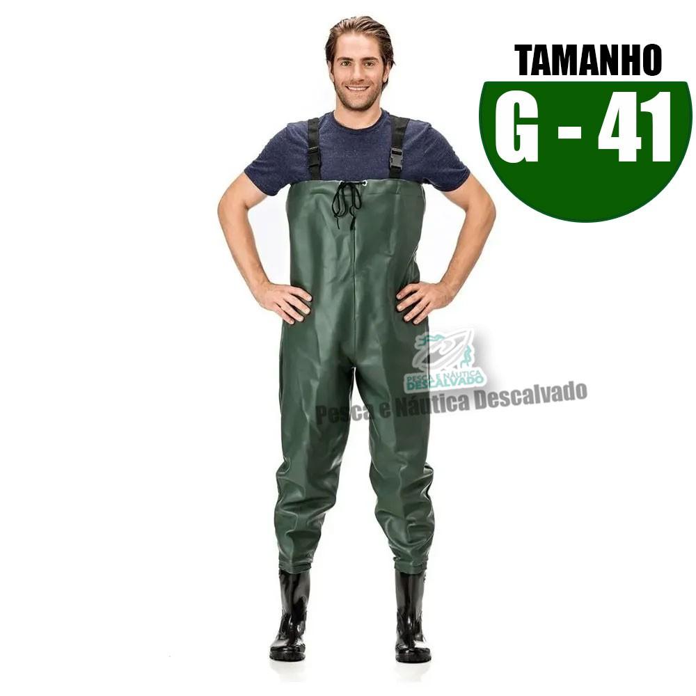 MACACAO BOTA LONGA PVC N 41 TAM G
