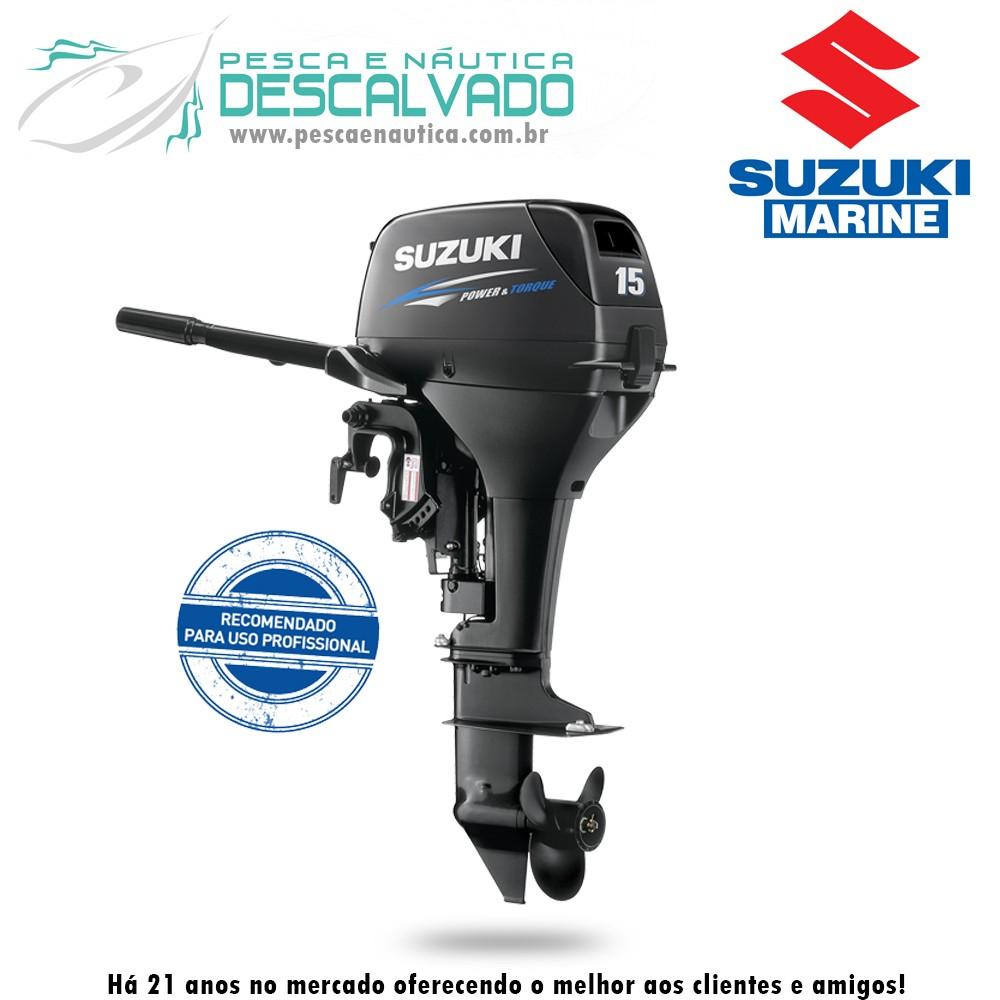 Motor de Popa 2 Tempos Suzuki 15 HP DT15A Profissional