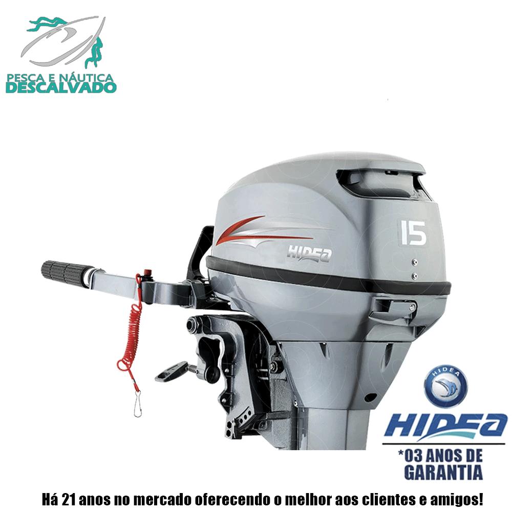 MOTOR DE POPA HIDEA 2 TEMPOS 15HP FHS (MANUAL)