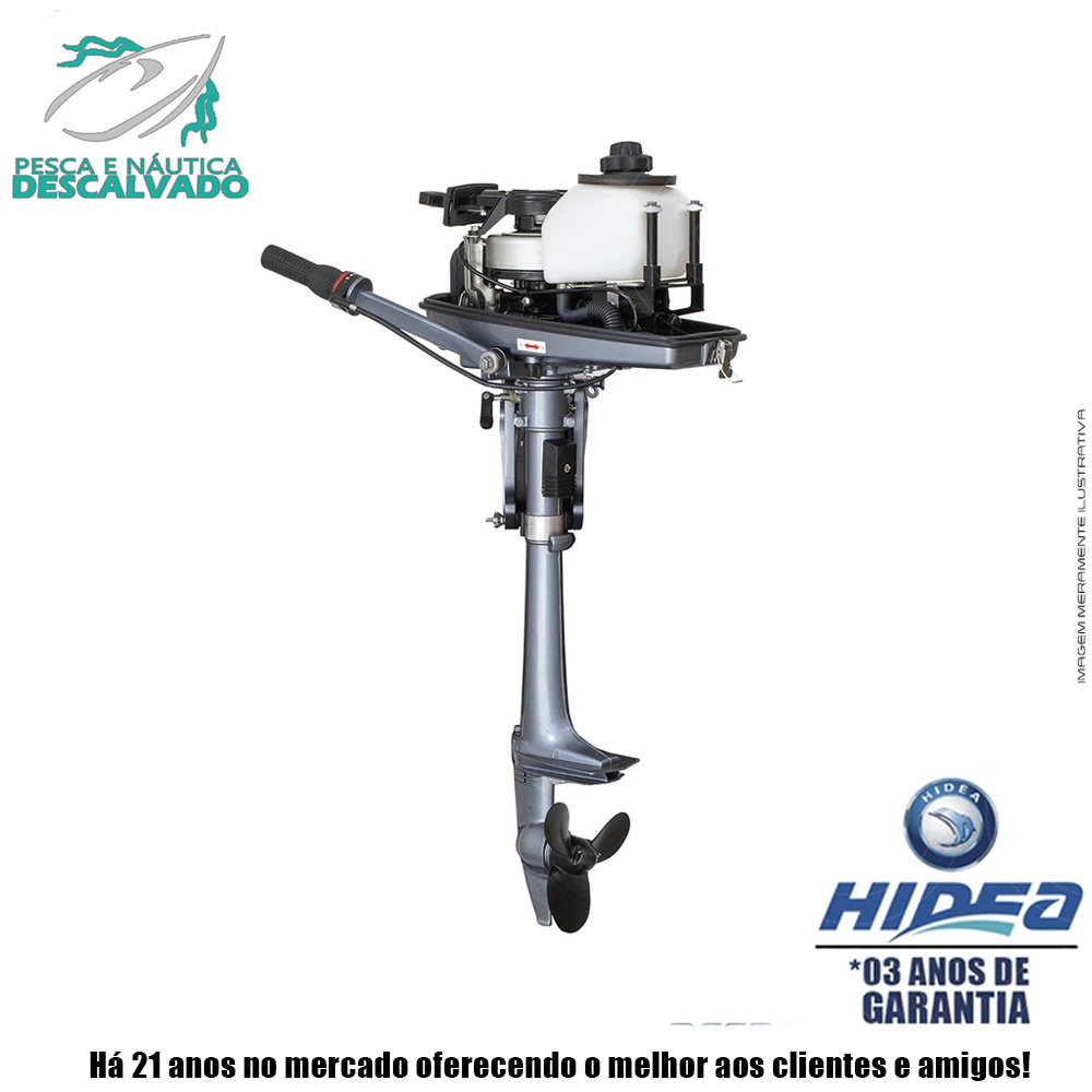 MOTOR DE POPA HIDEA 2 TEMPOS 2.5HP F (MANUAL)