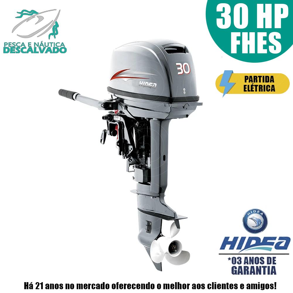MOTOR DE POPA HIDEA 2 TEMPOS 30HP FHES (ELÉTRICA)