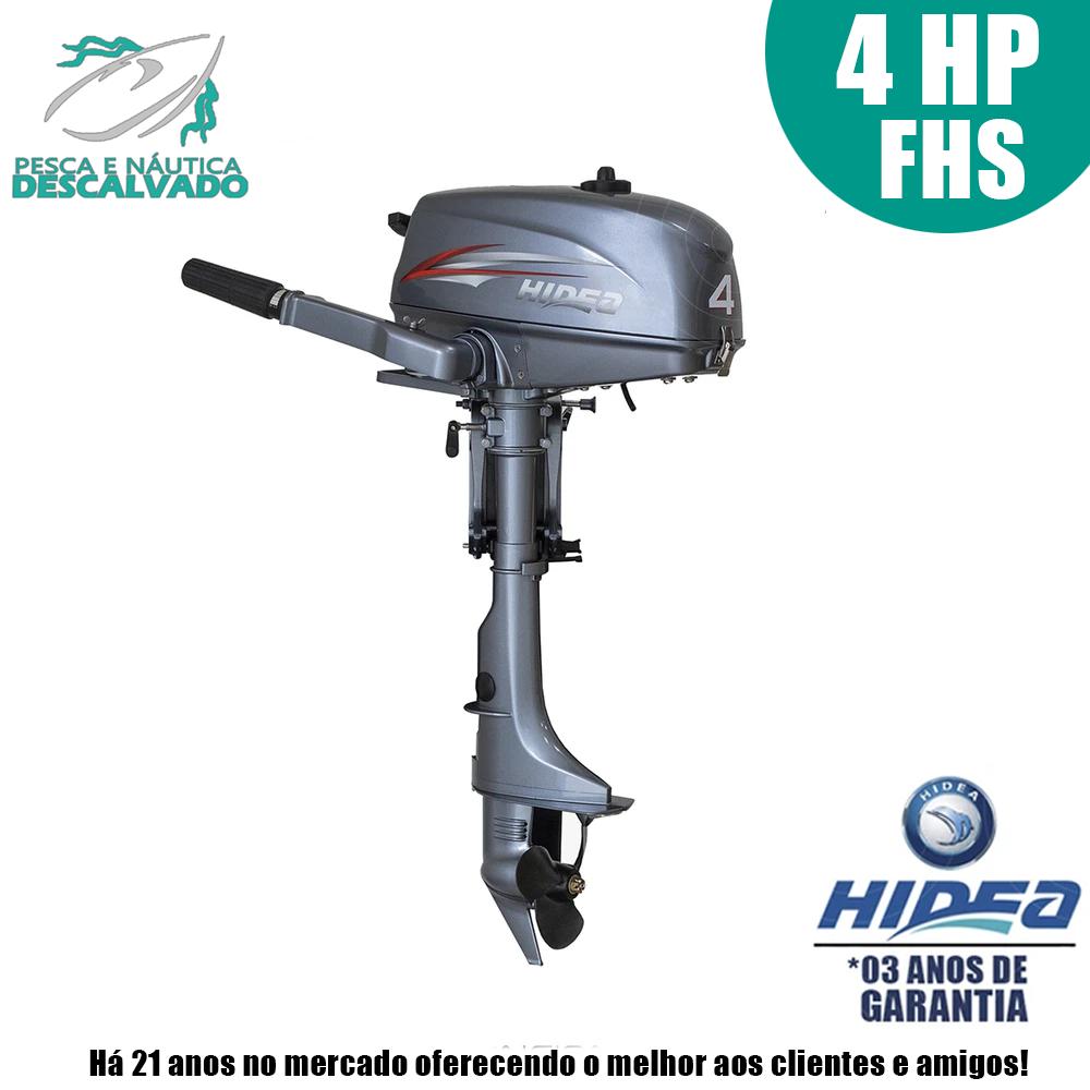 MOTOR DE POPA HIDEA 2 TEMPOS 4HP FHS (MANUAL)
