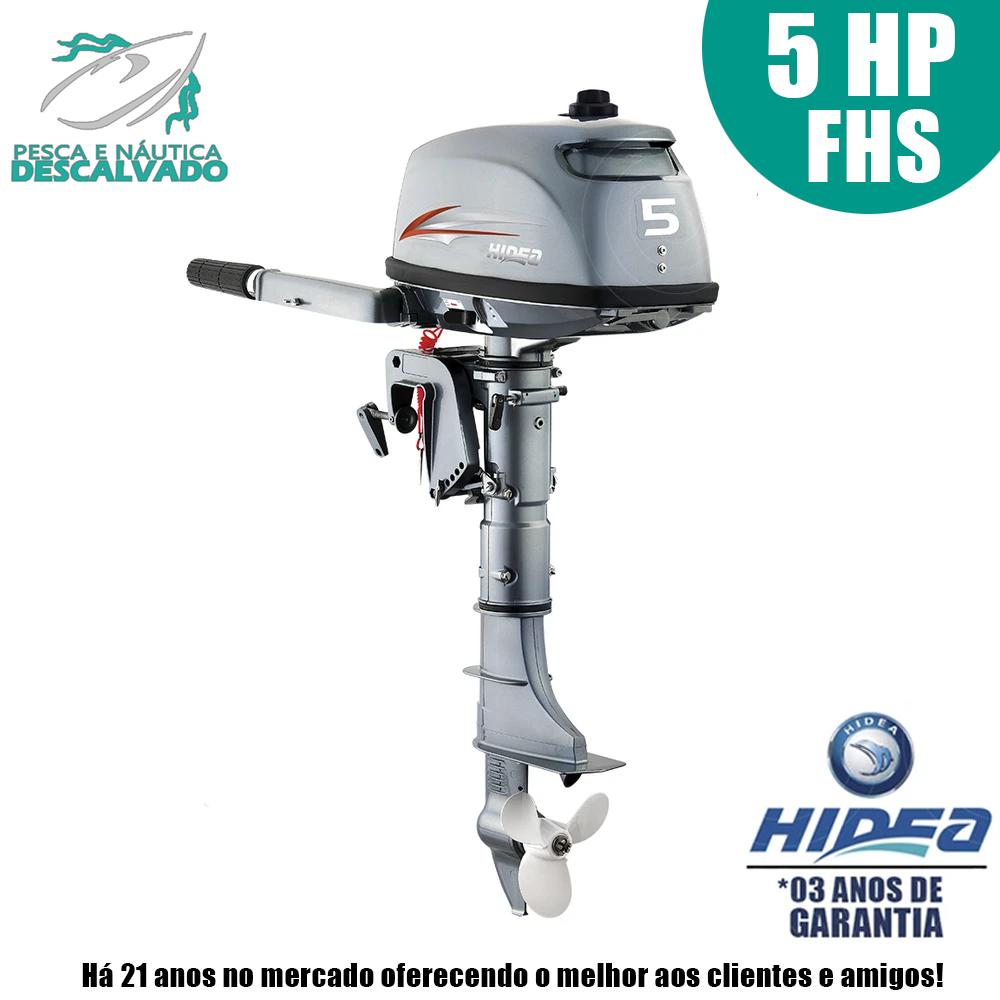 MOTOR DE POPA HIDEA 2 TEMPOS 5HP FHS (MANUAL)