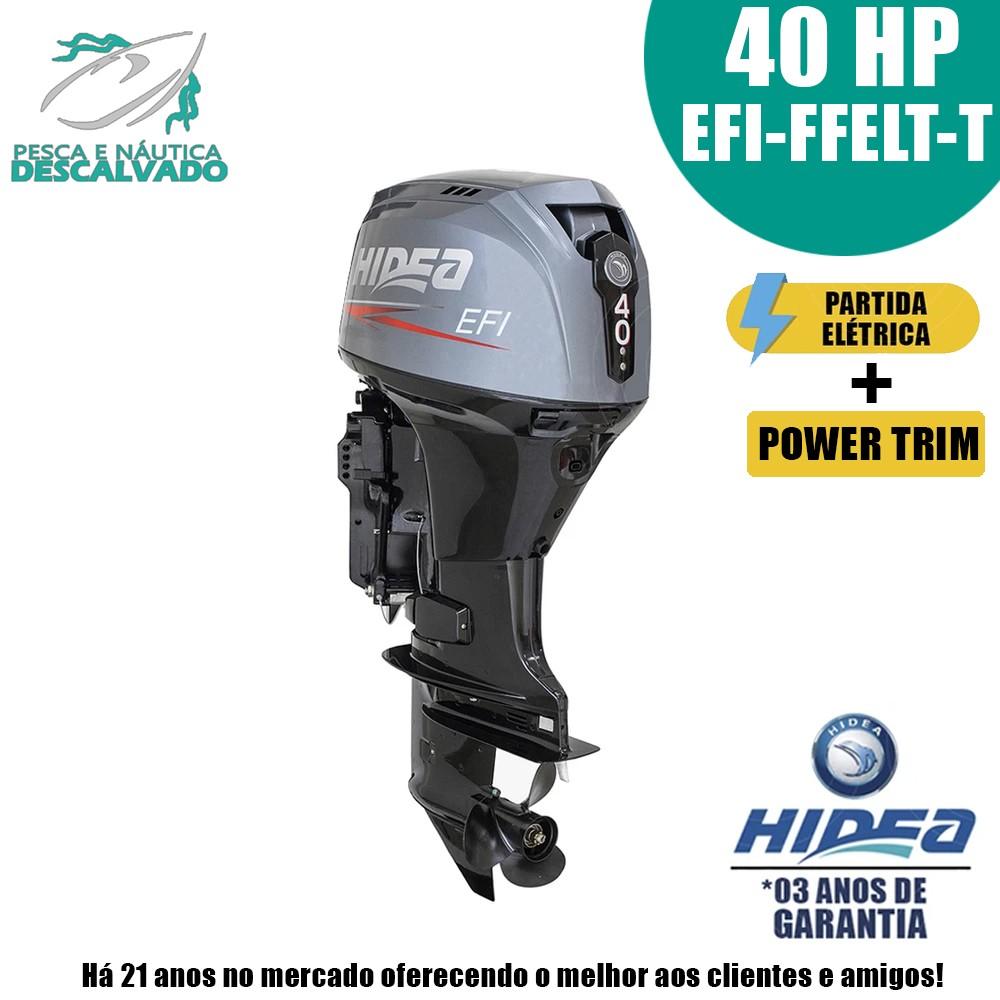 MOTOR DE POPA HIDEA 4 TEMPOS 40HP EFI-FFELT-T (ELÉTRICA+POWER)
