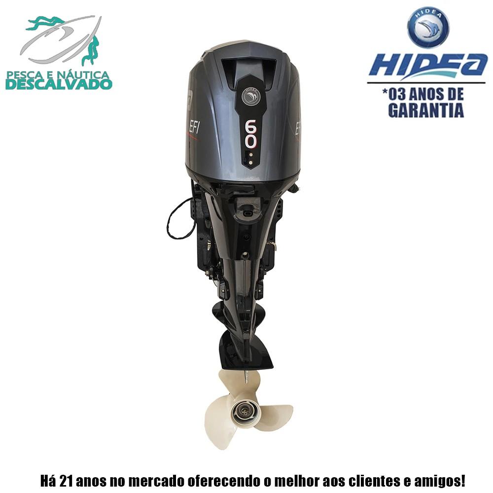MOTOR DE POPA HIDEA 4 TEMPOS 60HP EFI (ELÉTRICA+POWER TRIM)
