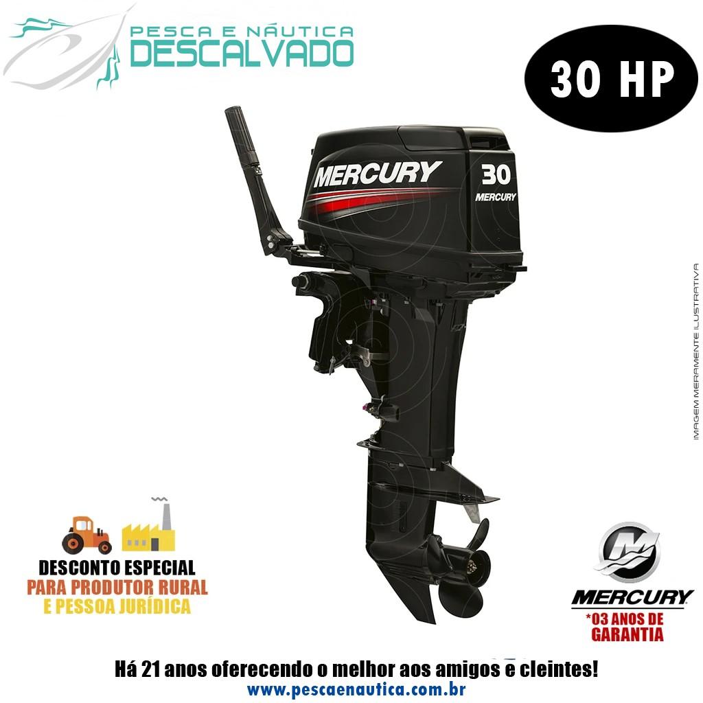 Motor De Popa Mercury 2 Tempos 30HP M Japão Partida Manual