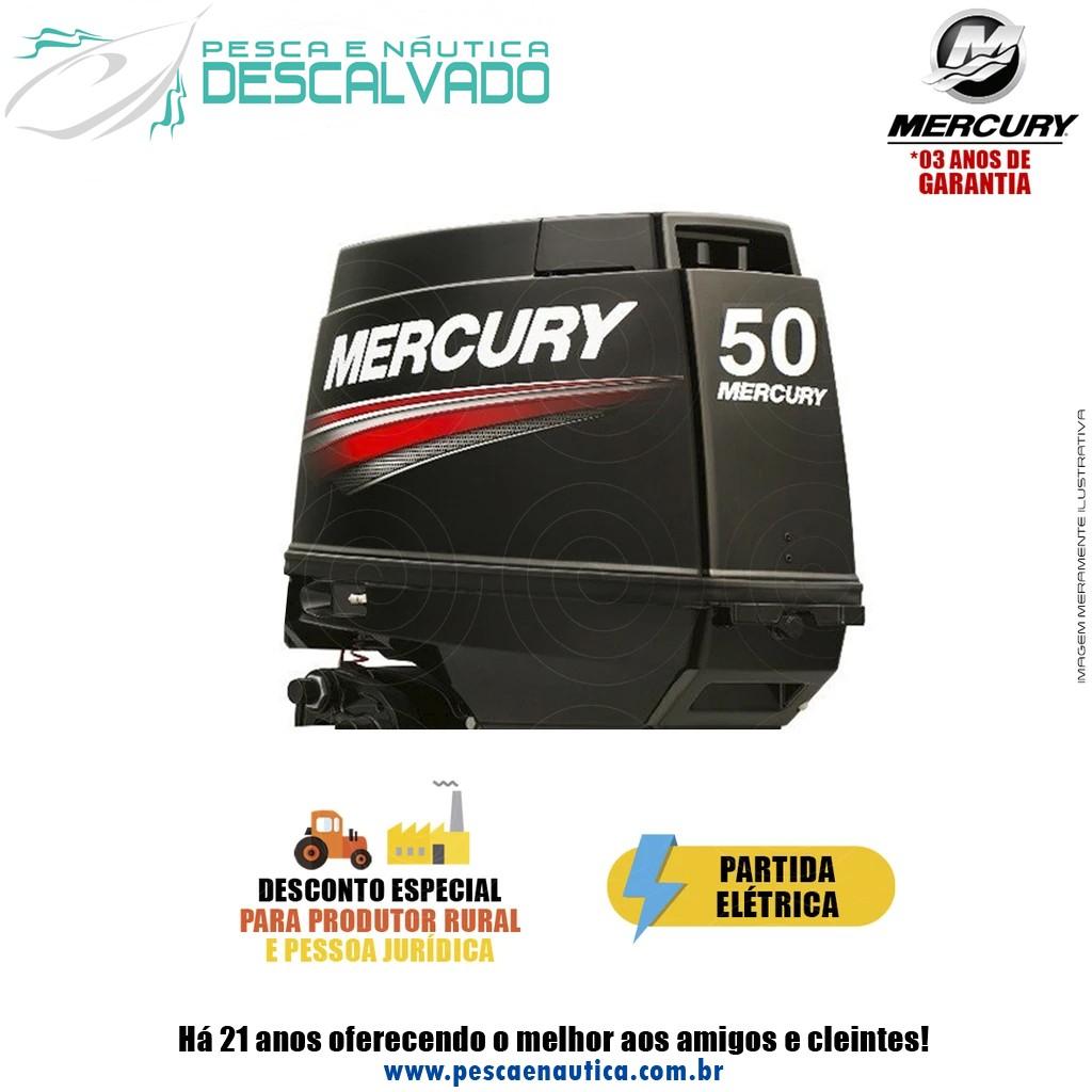 Motor De Popa Mercury 2 Tempos 50HP ELPTO 3 Cilindros
