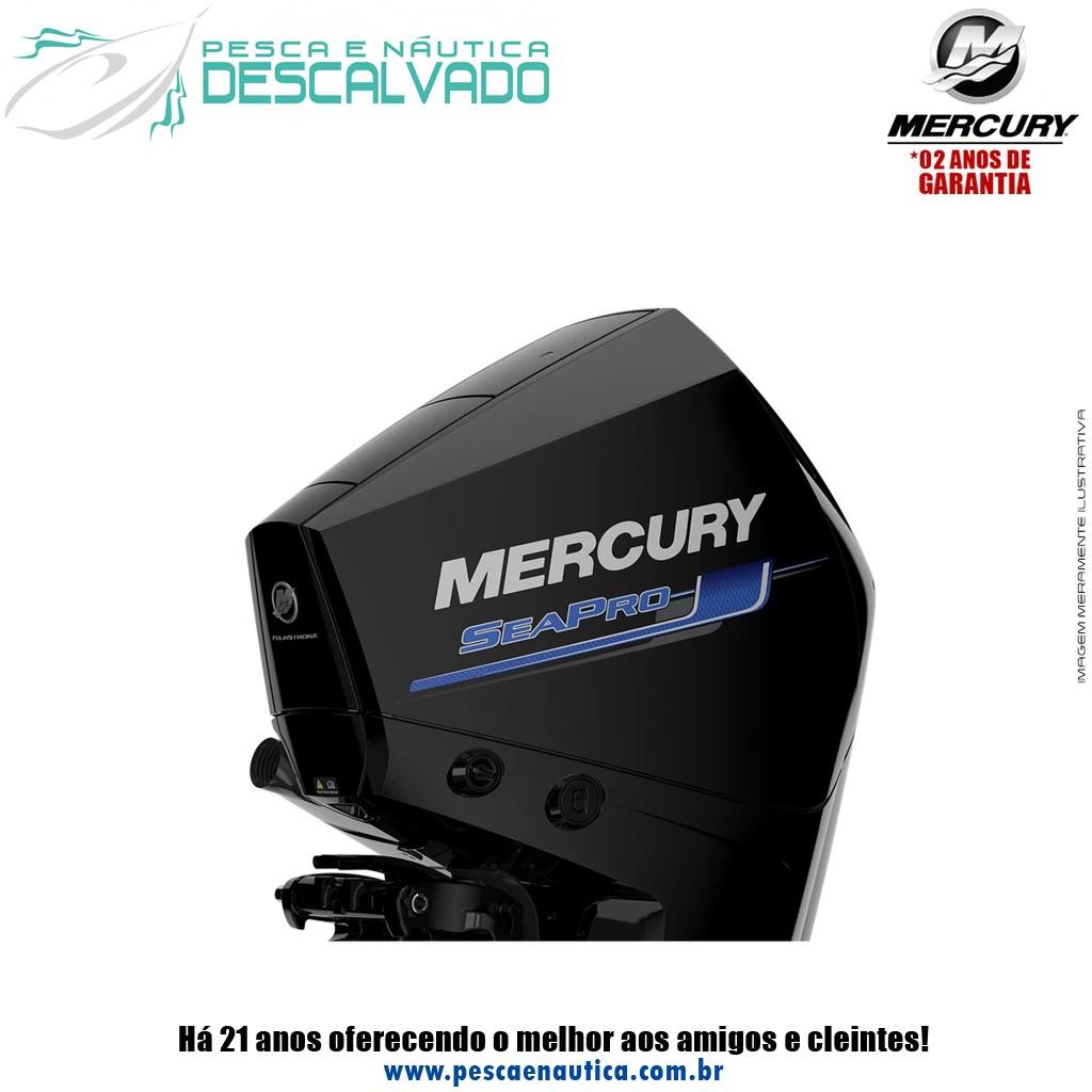 Motor De Popa Mercury 4 Tempos 200HP XL 3.4L EFI V6 SEAPRO MECÂNICO