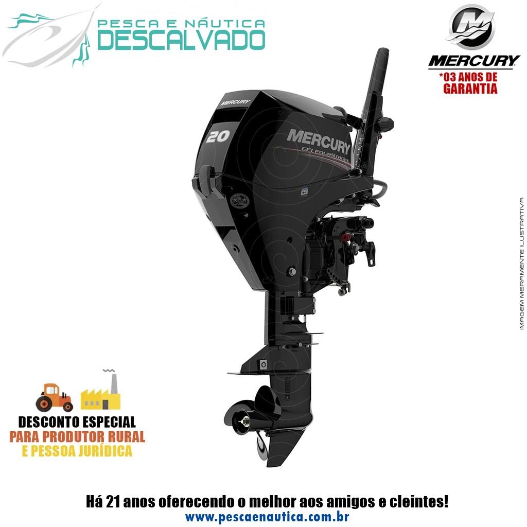 Motor De Popa Mercury 4 Tempos 20HP M EFI (PARTIDA MANUAL)