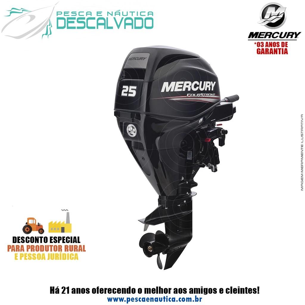 Motor De Popa Mercury 4 Tempos 25HP M EFI PARTIDA MANUAL