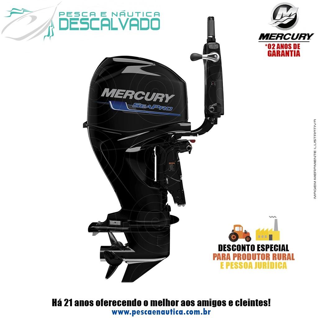 Motor De Popa Mercury 4 Tempos 60HP ELPT EFI CT SEAPRO