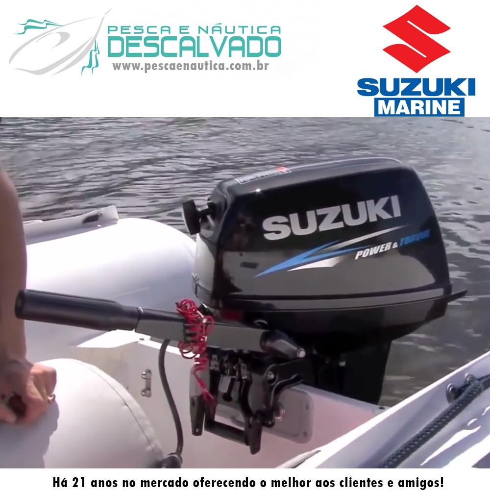 Motor de Popa Suzuki 2 Tempos 15 HP DT15A 2T (33KG)