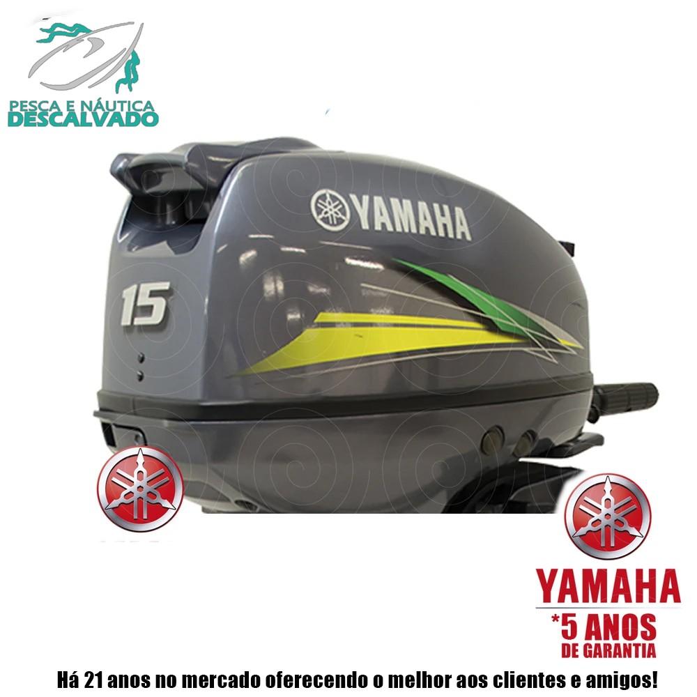 MOTOR DE POPA YAMAHA 2 TEMPOS 15HP GMHS (MANUAL)