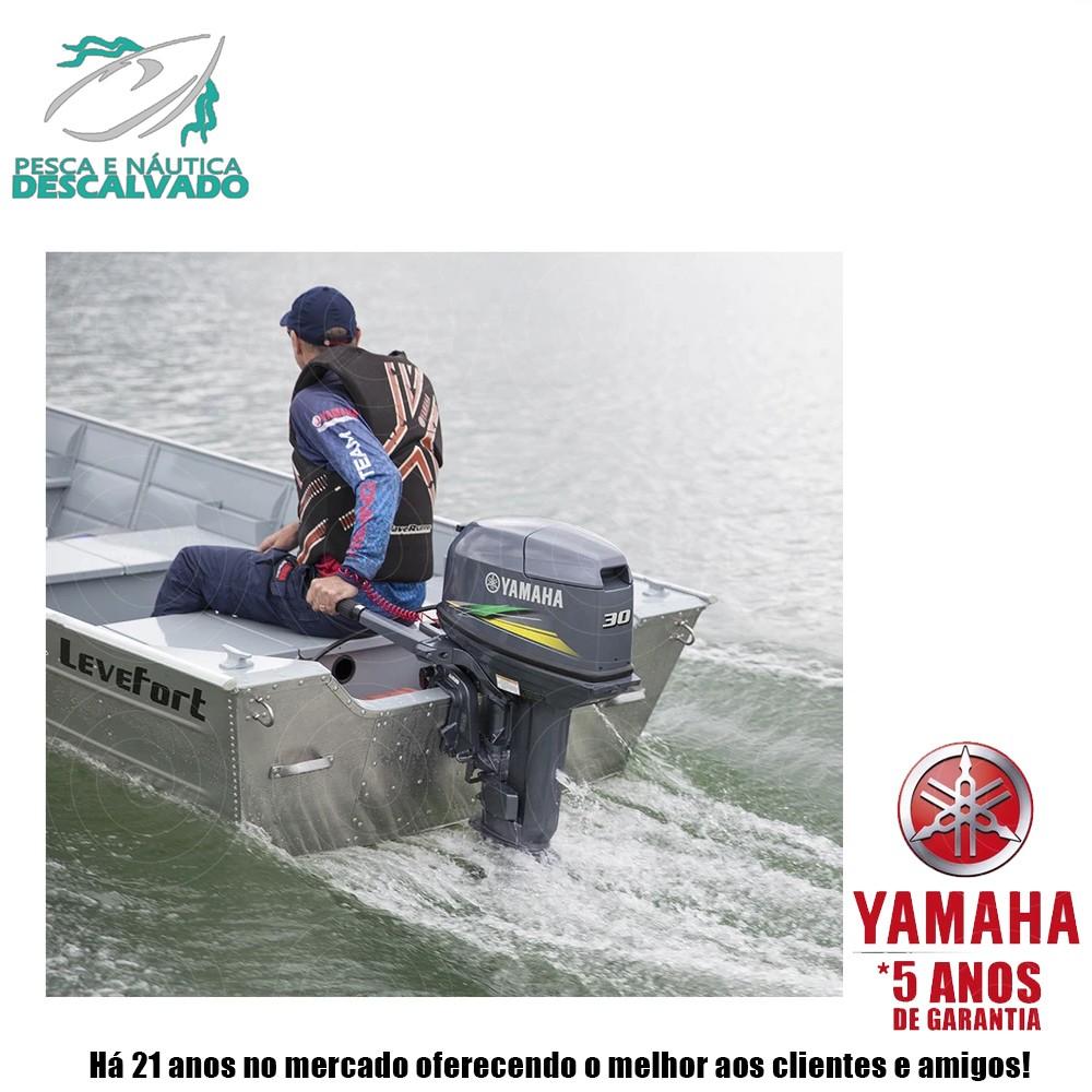 MOTOR DE POPA YAMAHA 2 TEMPOS 30HP HMHS (ELÉTRICA)