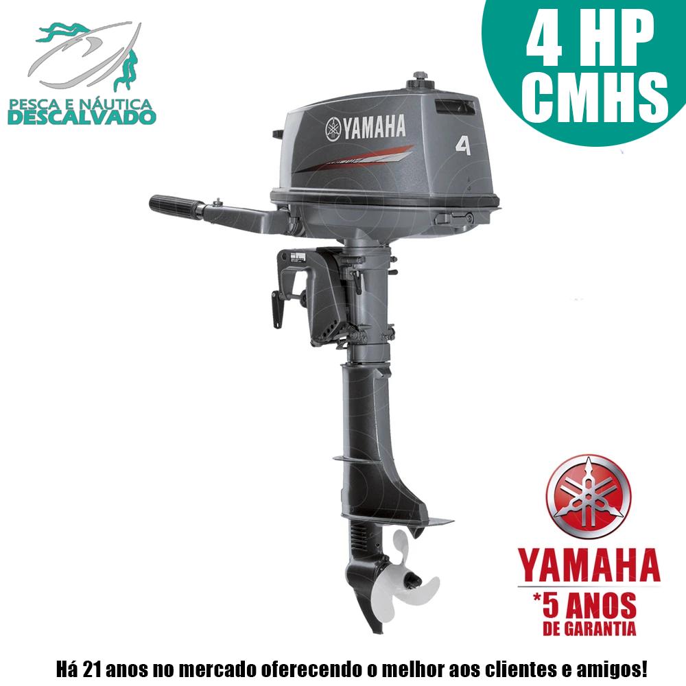 MOTOR DE POPA YAMAHA 2 TEMPOS 4HP CMHS (MANUAL)