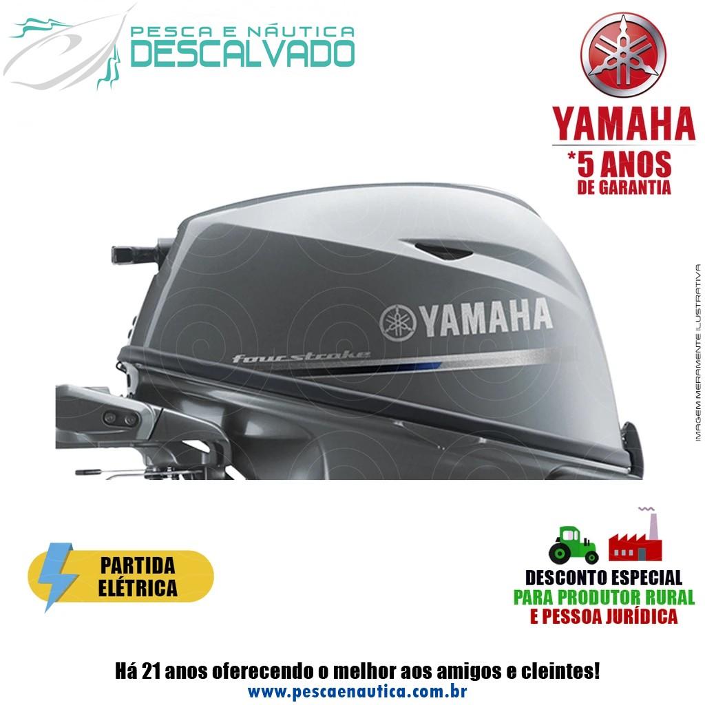 Motor De Popa Yamaha 4 Tempos F 20HP BMHS Partida Elétrica