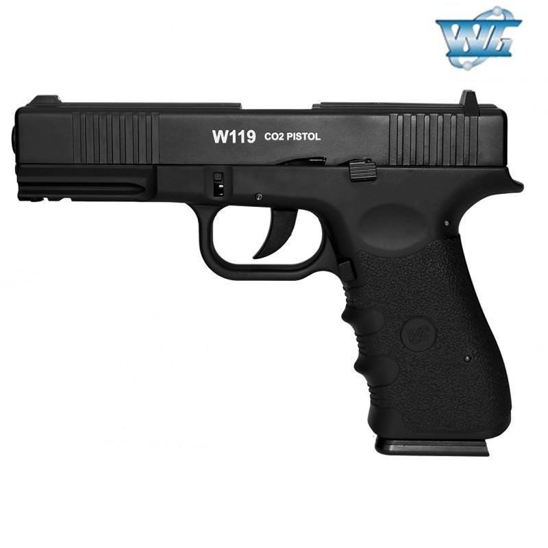 Pistola de Pressão CO2 W119 Metal 4.5mm WinGun
