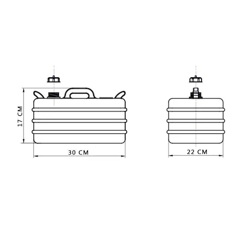 Tanque de combustÍvel 12 litros - pesca e nÁutica descalvado
