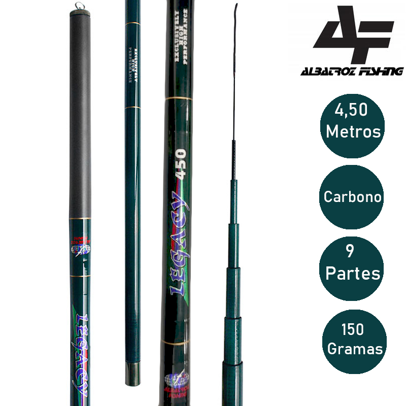 Vara Telescópica Legacy Carbono 4.50 Metros - Albatroz