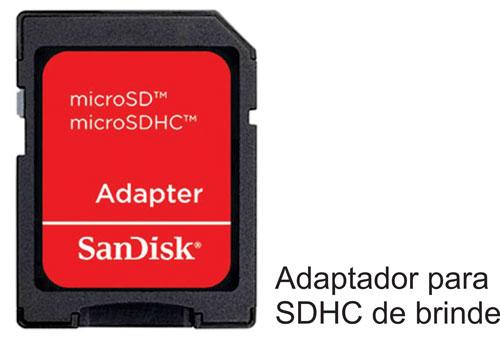 Cartão de Memória MicroSDHC 4GB Sandisk classe 4 na embalagem