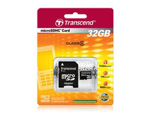 Cartão de Memória Micro Sdhc 32GB Transcend - Classe 2