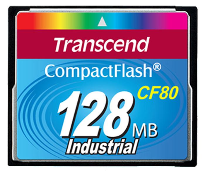 Cartão de memória CompactFlash Transcend 128MB 80x Industrial TS128MCF80