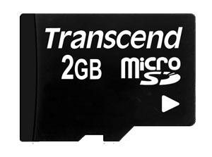 Cartão de memória MicroSD Transcend 2GB