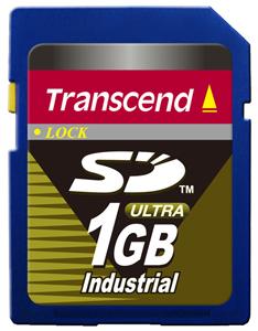 Cartão de Memória SD Transcend 1GB Industrial TS1GSD80I