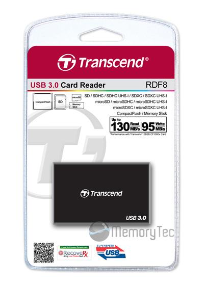 Leitor de cartão de memória Transcend USB 3.0 RDF8