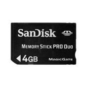 Memory Stick Pro Duo com Magic Gate 4GB Sandisk