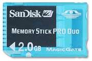 Memory Stick Pro Duo Gaming com Magic Gate 2GB Sandisk