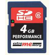 Cartão Memória SD Extrememory 4GB Classe 6