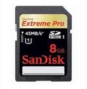 Cartao de Memoria Sandisk SDHC 8GB Extreme Pro 45MB/s