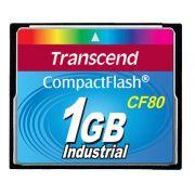 Cartão de memória CompactFlash CF Transcend 1GB 80x Industrial TS1GCF80