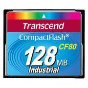 Cartão de memória CompactFlash CF Transcend 128MB 80x Industrial TS128MCF80