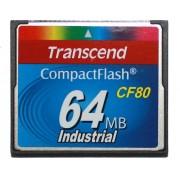 Cartão de memória CompactFlash CF Transcend 64MB 80x Industrial TS64MCF80