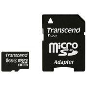 Cartão de Memória MicroSDHC Transcend 8GB classe 4