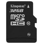 Cartão de Memória Kingston MicroSDHC 32GB Classe 10