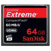 Cartão de Memória Compact Flash CF 64GB Sandisk Extreme 400x