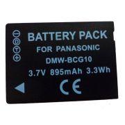 Bateria DMW-BCG10E para câmera digital e filmadora Panasonic DMC-TZ6, DMC-TZ7, DMC-ZS1, DMC-ZS3