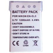 Bateria EN-EL5 para câmera digital e filmadora Nikon Coolpix 3700, 4200, 5200, 5900, 7900, P3, P4, P