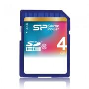 Cartão de memória SDHC Silicon Power 4GB classe 10