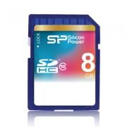 Cartão de memória SDHC Silicon Power 8GB classe 10