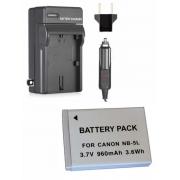 1 Bateria NB-5l + Carregador para Câmera Digital e Filmadora