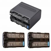 2 bateria NP-FM55H PARA SONY DLSR-A100 + 1 bateria NP-F970 PARA FILMADORA SONY