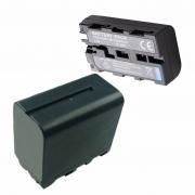 1 bateria NP-F750 + 1 bateria NP-F550