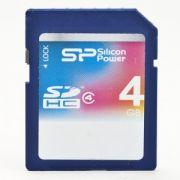 CARTÃO SDHC SILICON POWER 4GB CLASSE 4