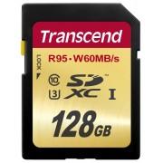 Cartão de Memória SDXC 128GB Transcend Classe 10 Ultimate UHS-1 U3 R95MB/s W60MB/s